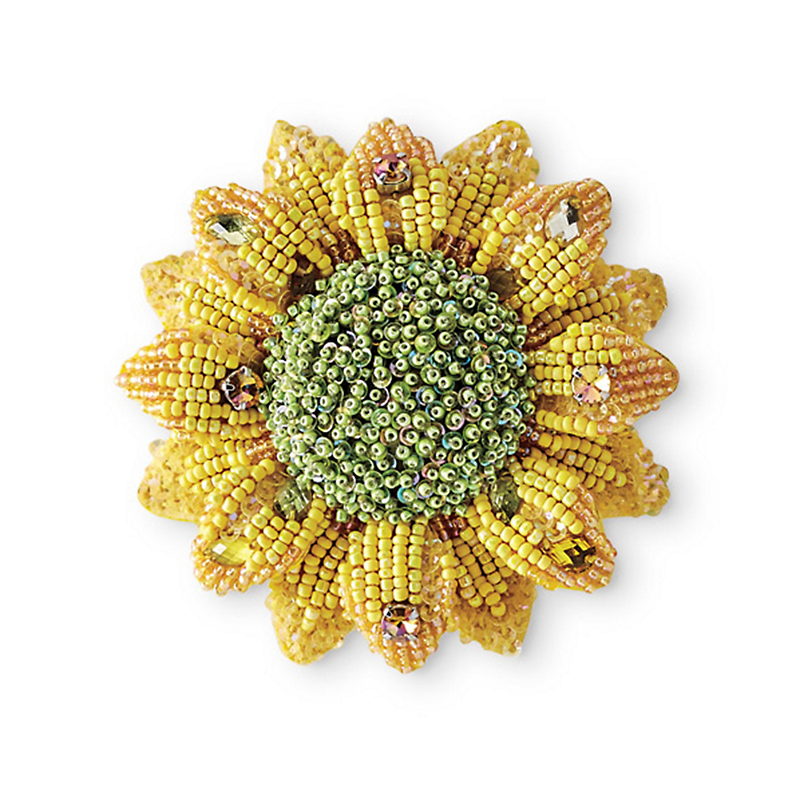 Mary Frances Sunflower Pin