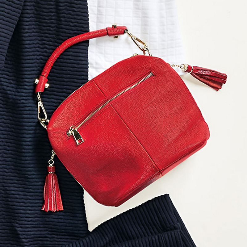 Convertible Tassel Satchel