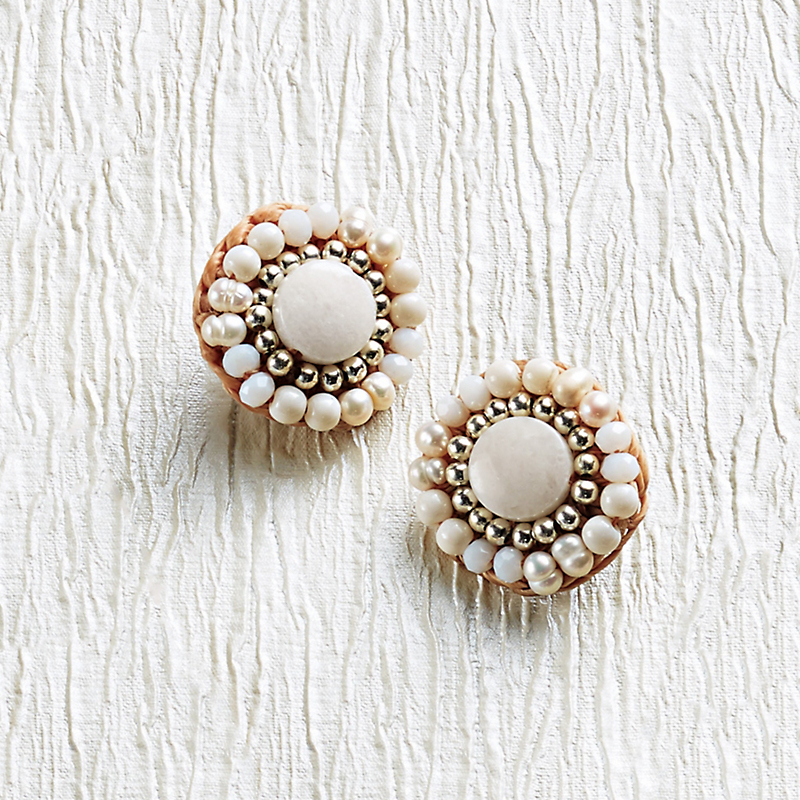 Pearl & Agate Earrings