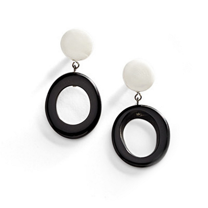 Blanc Et Noir Earrings