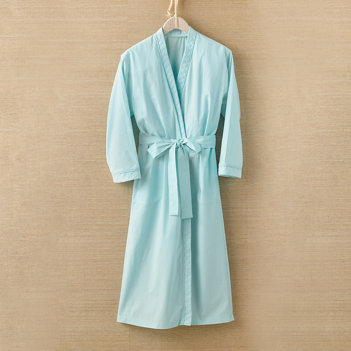 Diamond Tea Aqua Striped Robe