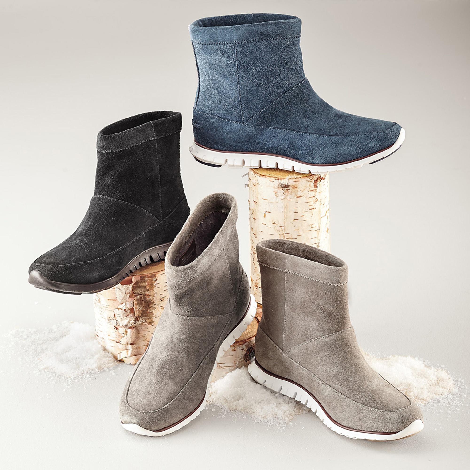 Cole Haan Zerogrand Suede Booties