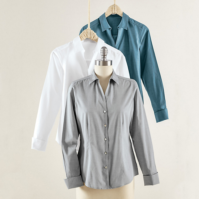Foxcroft Non-Iron Oxford Shirt