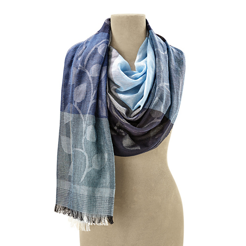 Blue Leaves Scarf