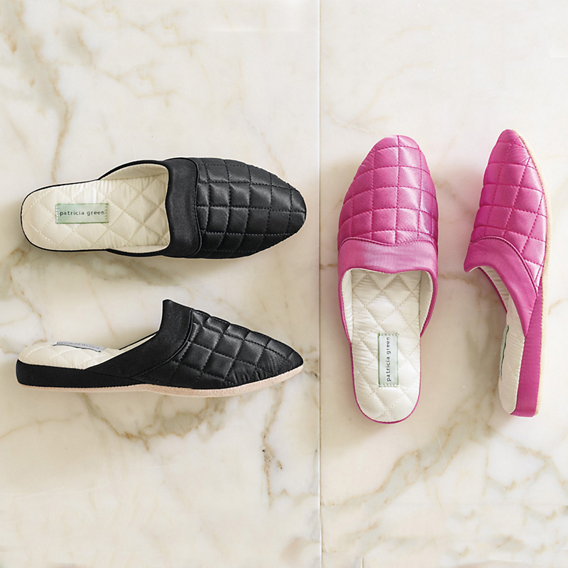 Patricia Green Quilted Slippers