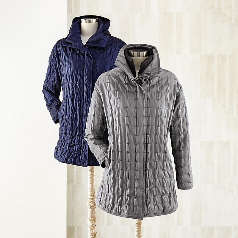 Mycra Pac Quilted Coat