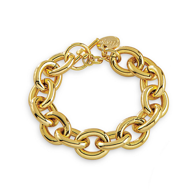 Gold Anchor Link Travel Bracelet