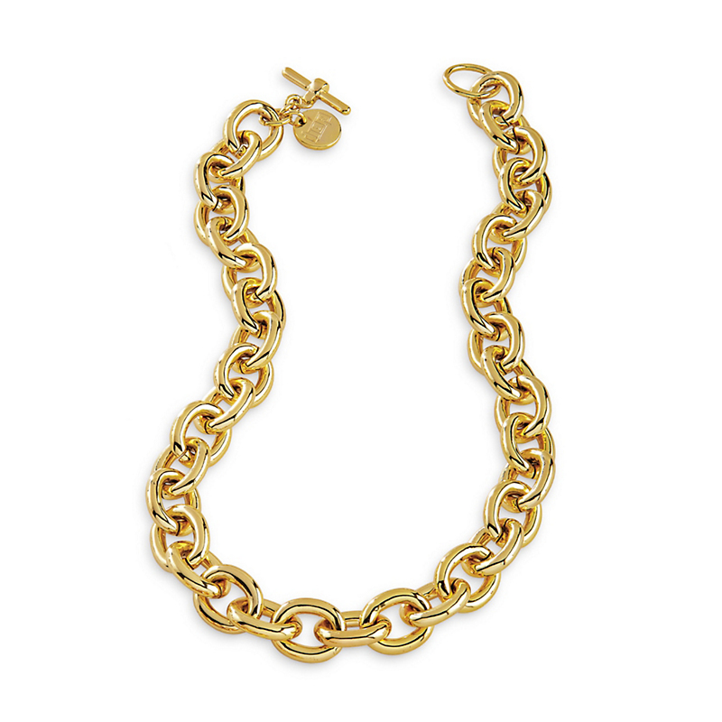 Gold Anchor Link Travel Necklace
