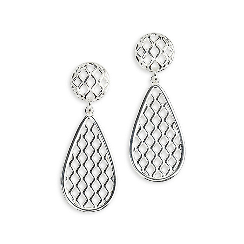 Silver Trellis Earrings