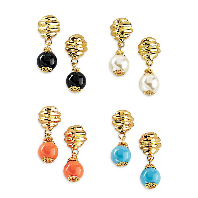 Beehive Drop Earrings