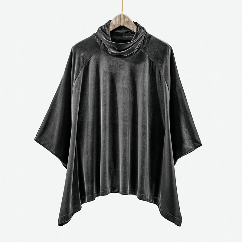 Stretch Velvet Poncho