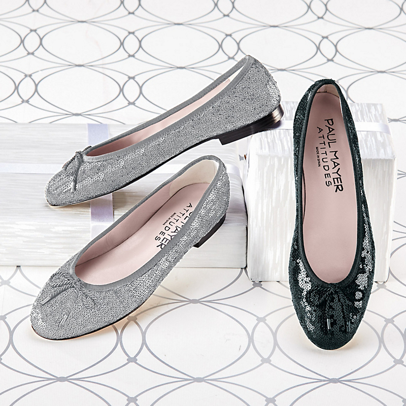 Paul Mayer Sequin Ballet Flats