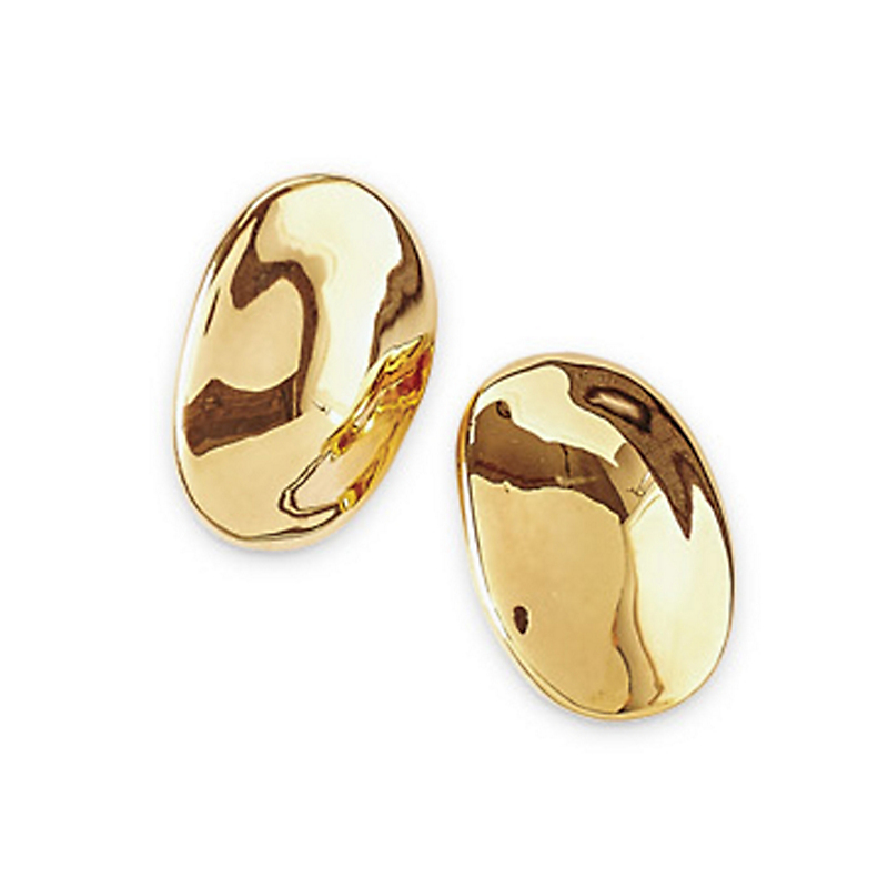 Simon Sebbag Gold Oval Earrings