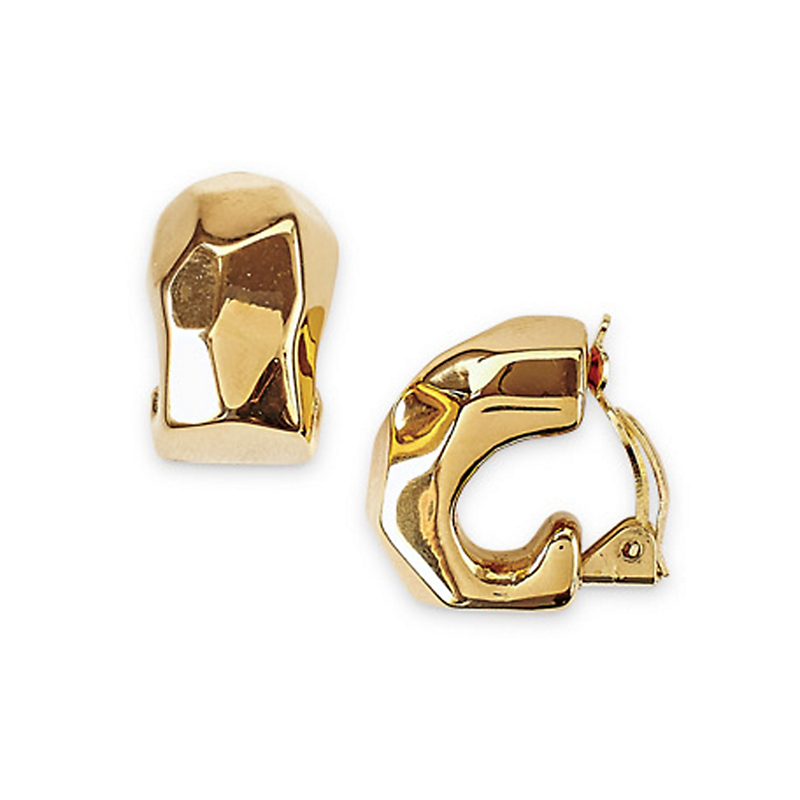 Simon Sebbag Gold Hammered Hoop Earrings