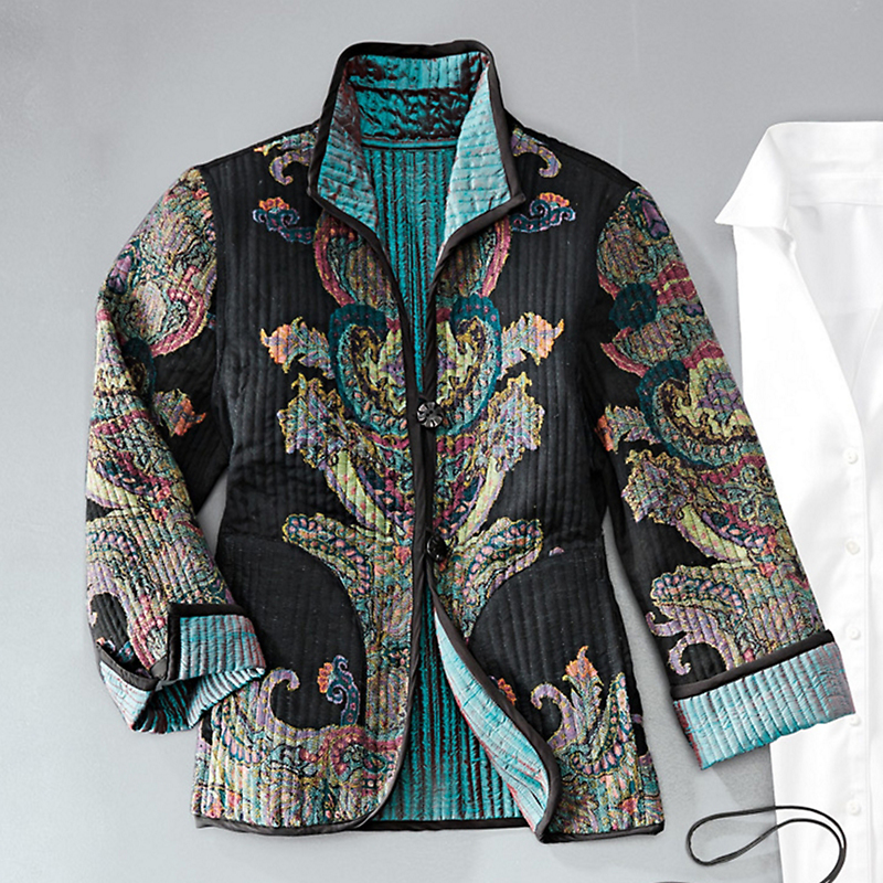 Reversible Jade Paisley Jacket