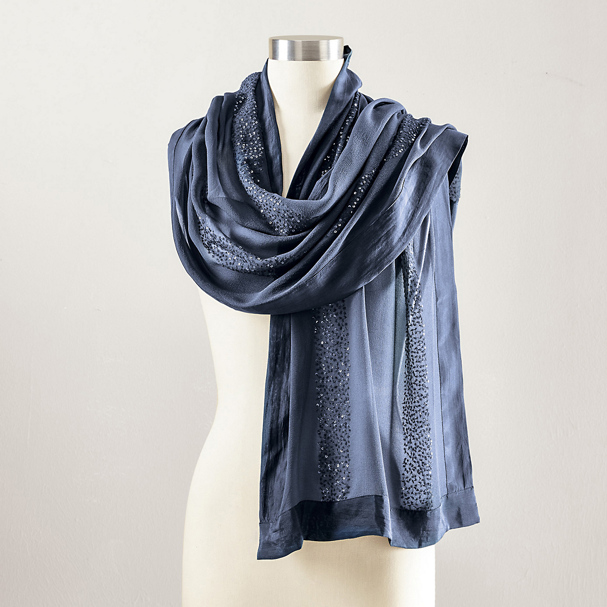 Sequined Waterfall Scarf