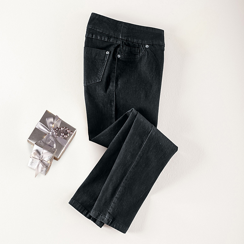 Up! Denim Leggings, Black