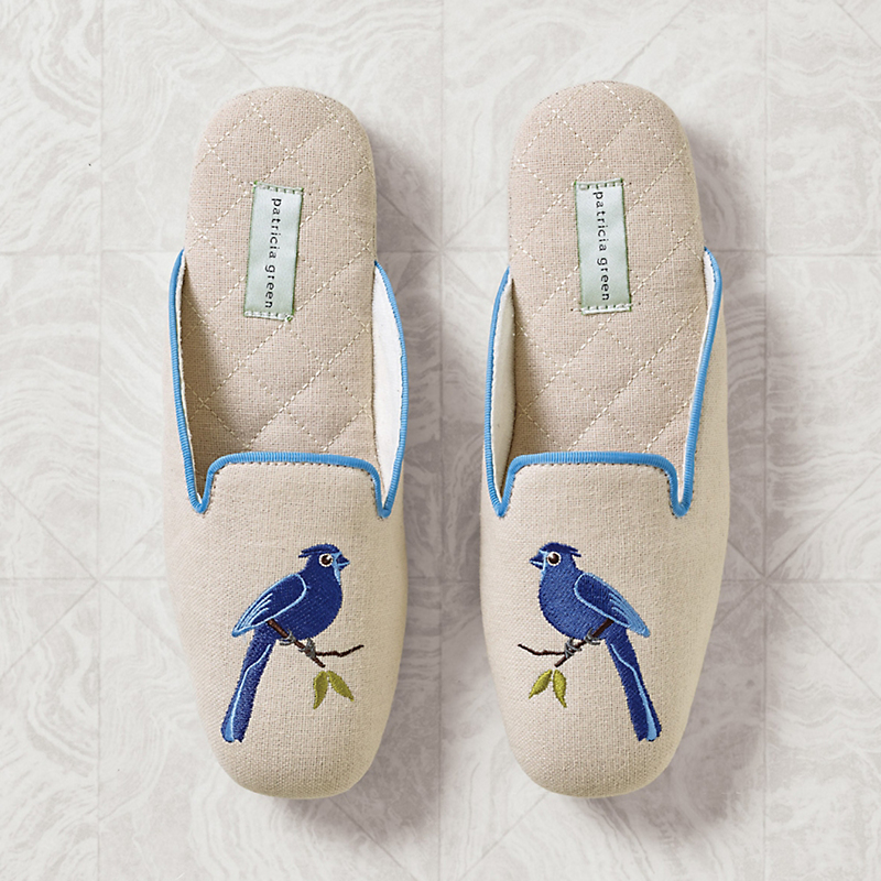 Blue Jay Slippers