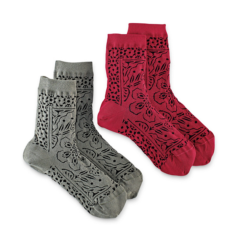 Lace Mosaic Crew Sock Set