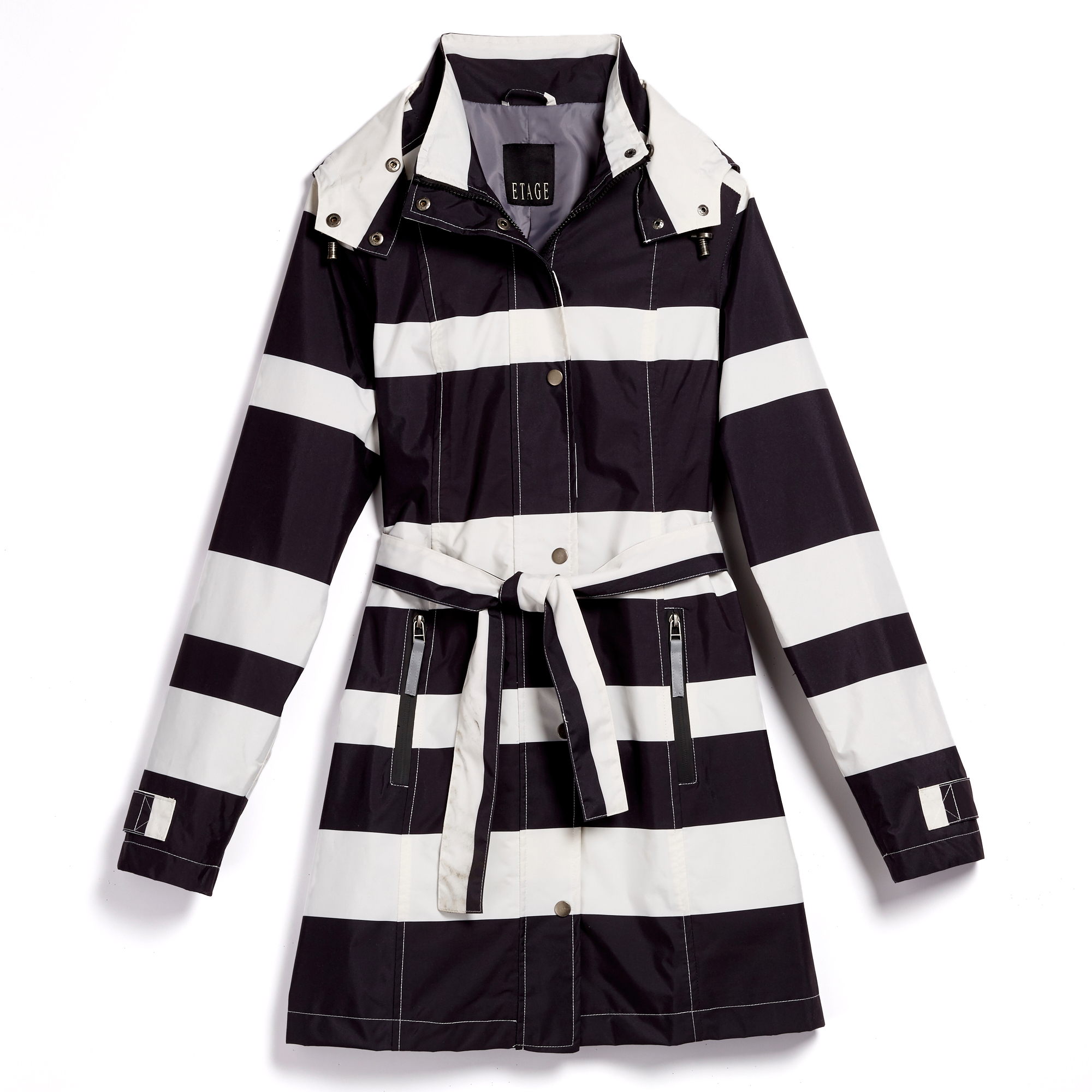 Britta Striped Raincoat