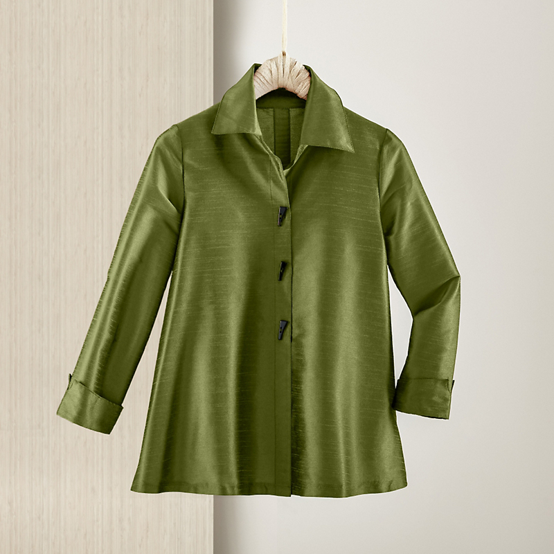 Empress A-Line Blouse, Pesto