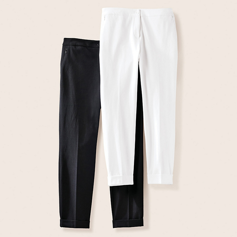 Cuffed Twill Pants