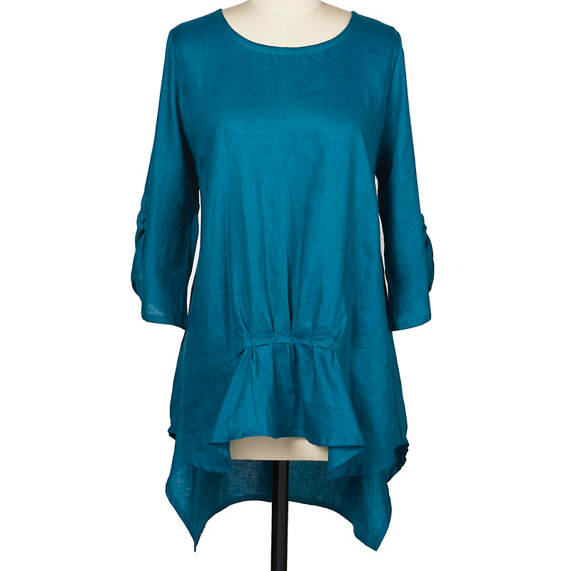 Gathered Linen Tunic