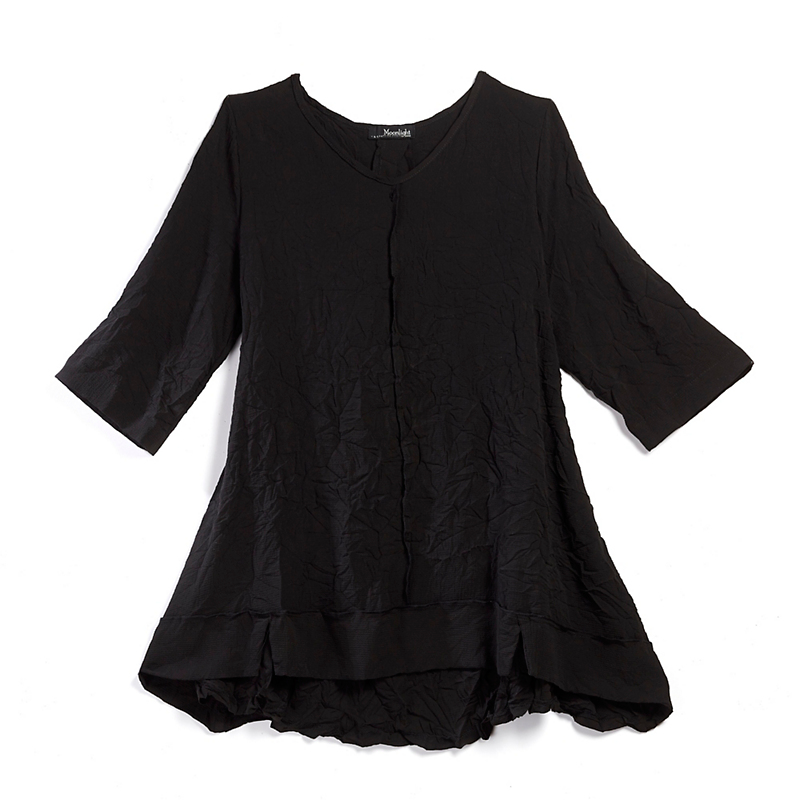 Ruffled Crinkle Tunic