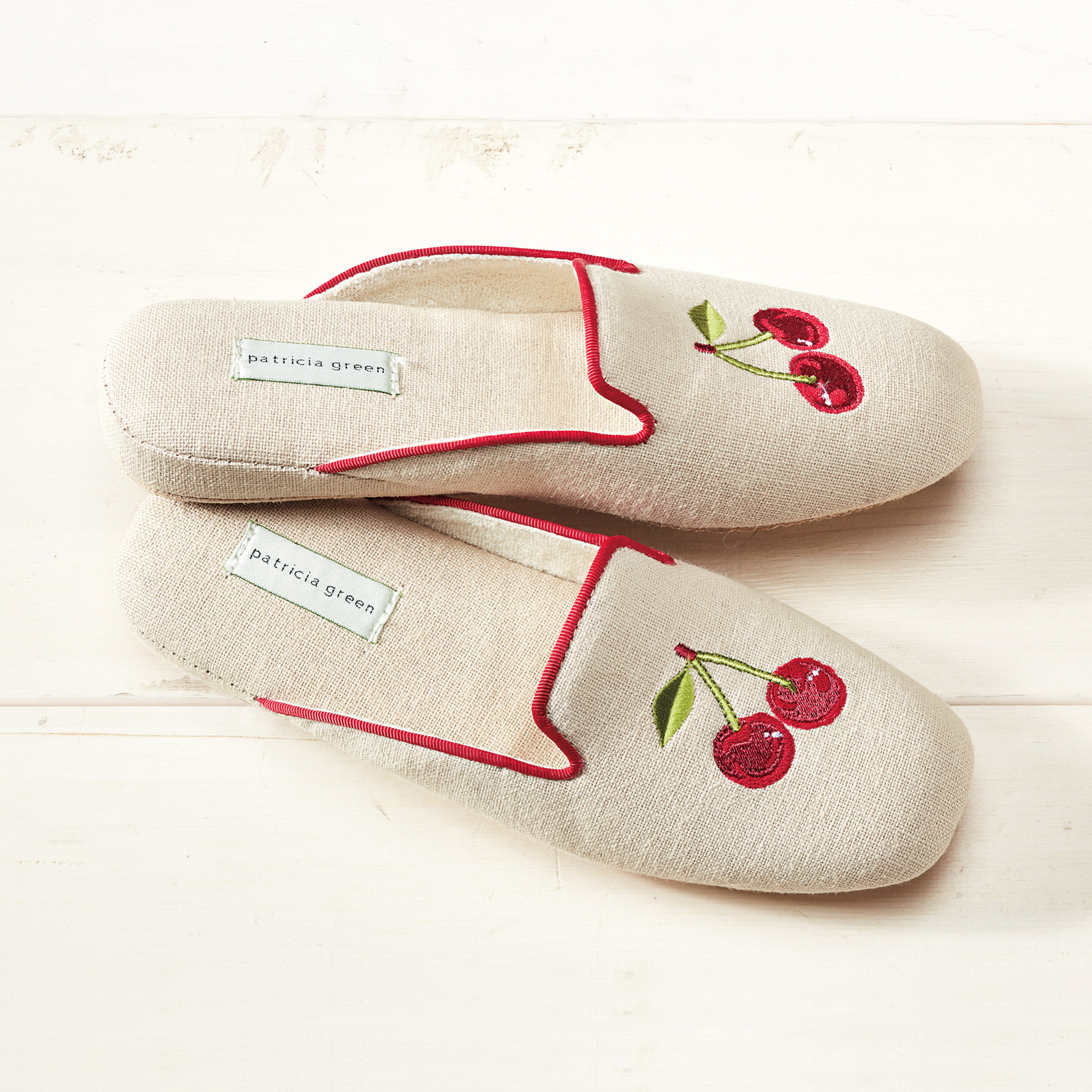 Patricia Green Cherry Slippers