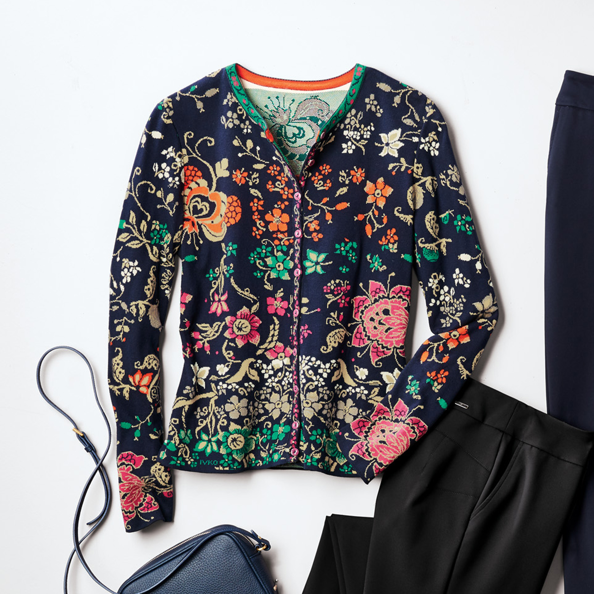 Intarsia Floral Sweater