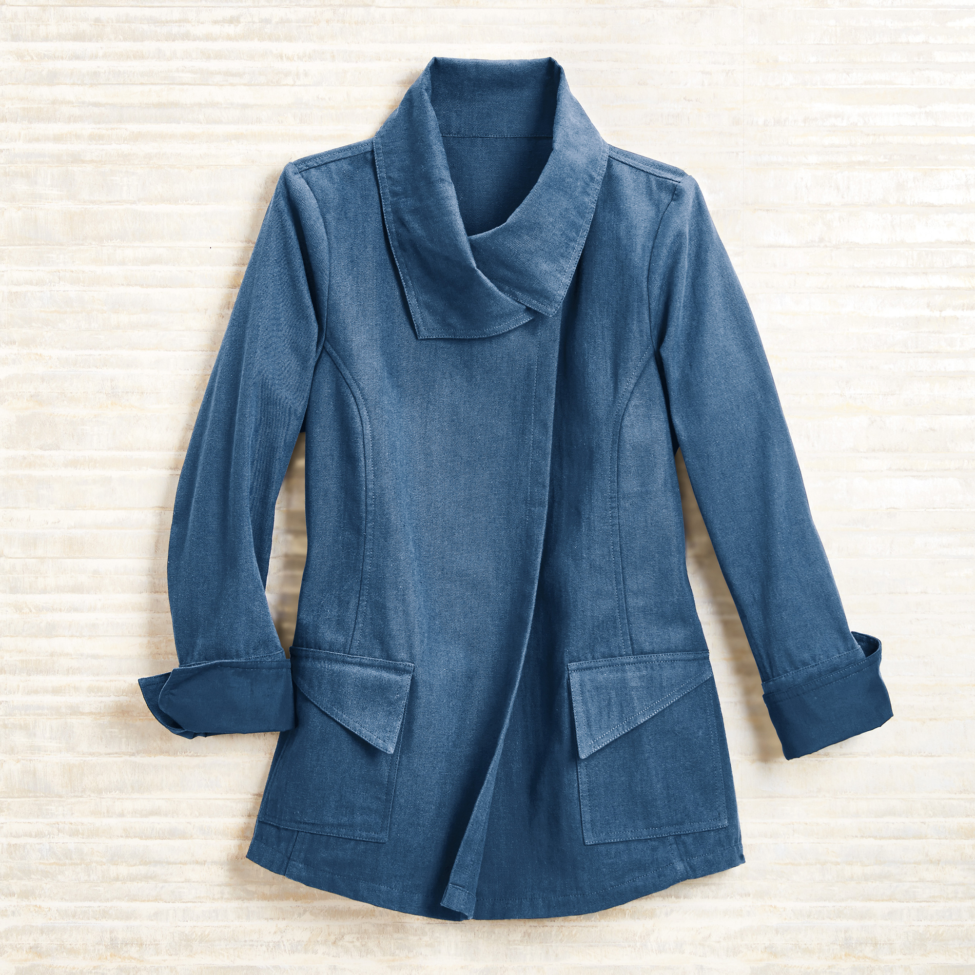 Alexa Canvas Jacket, Indigo