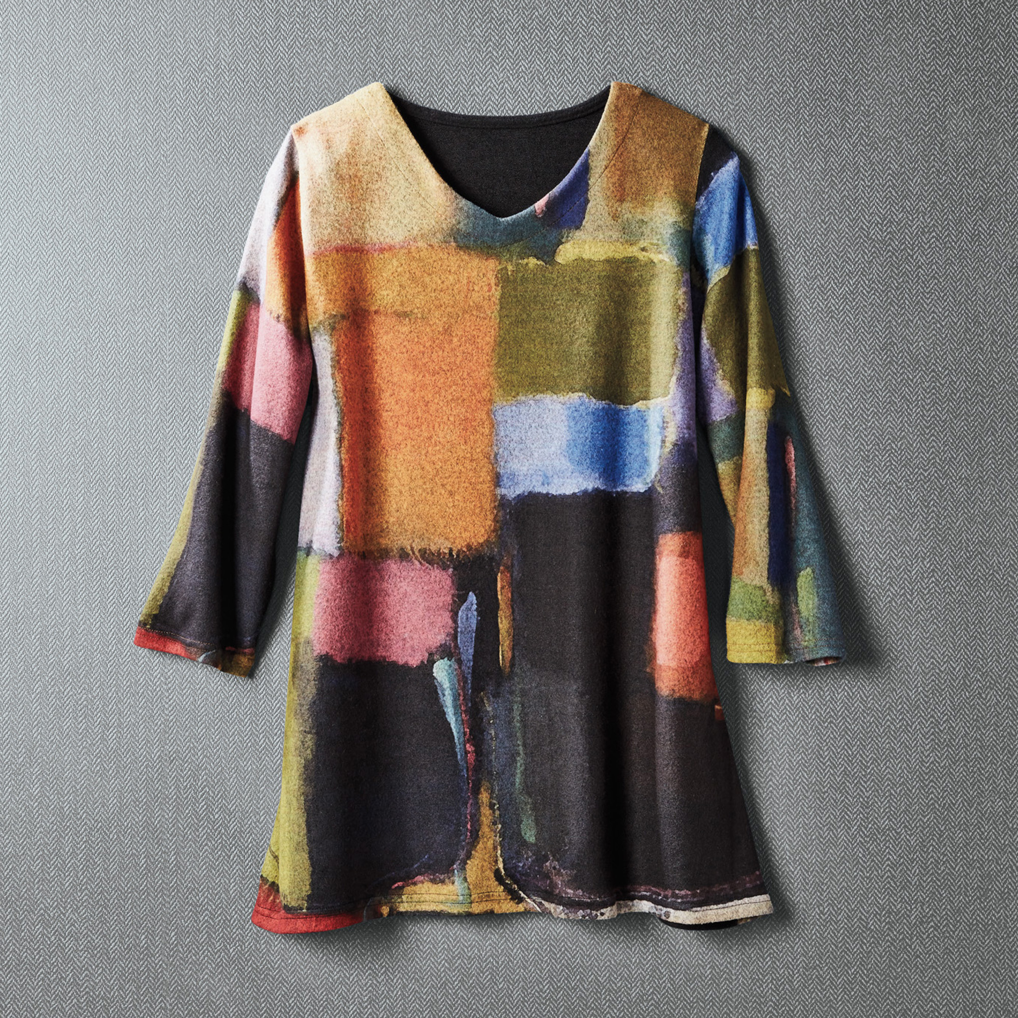 Painted Squares Sweater