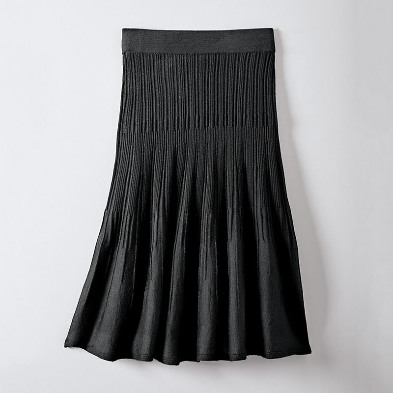Adelaide Pleated Wool Skirt