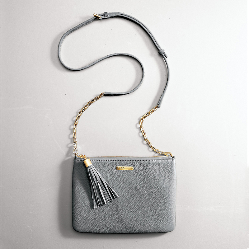 Chelsea Cross Body Bag, Light Gray