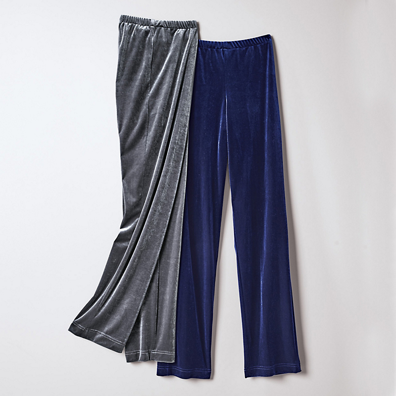 Stretch Velvet Collection Pants