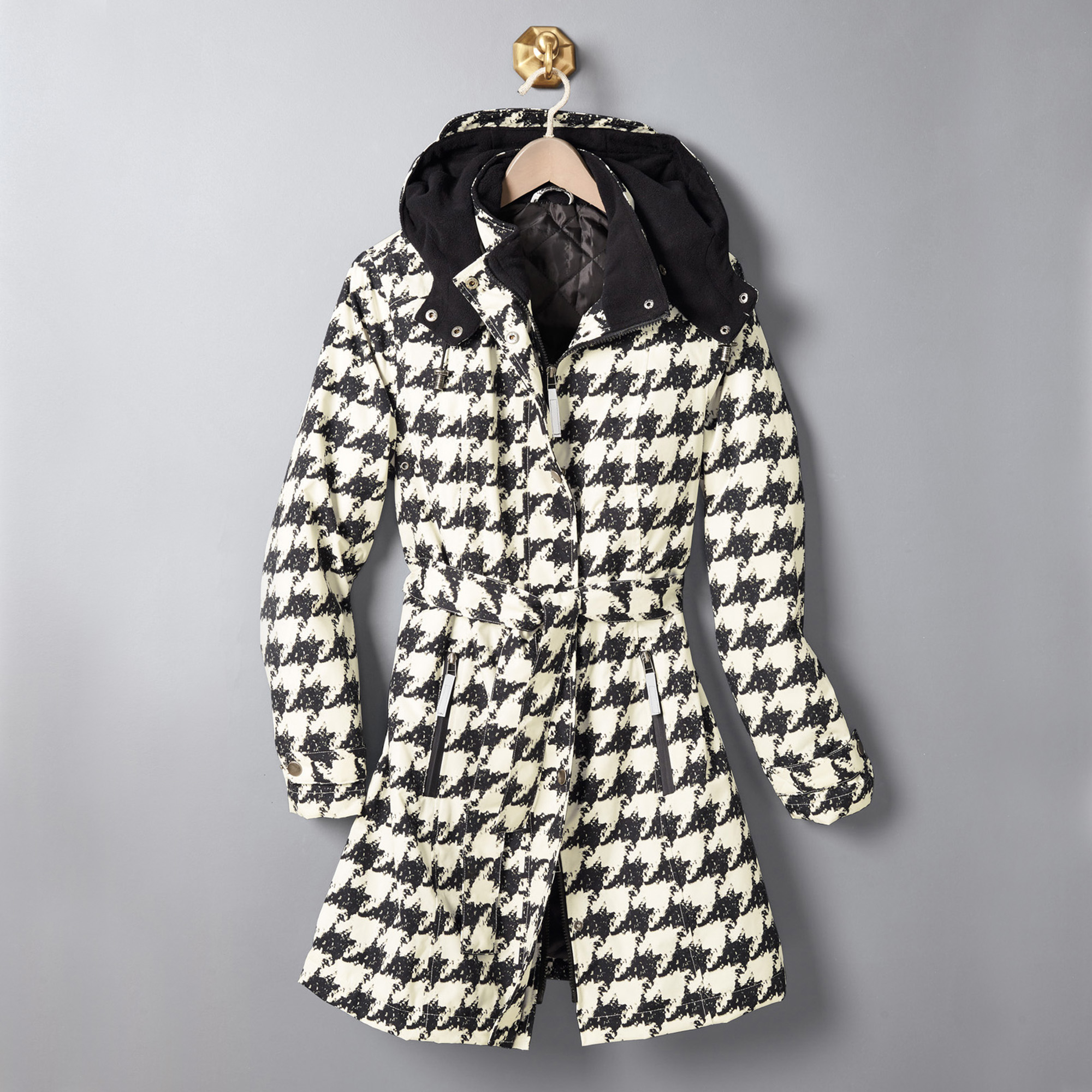 Houndstooth Raincoat