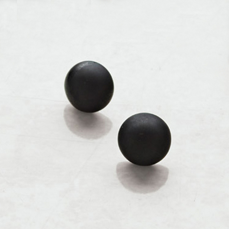 Murano Matte Black Glass Earrings