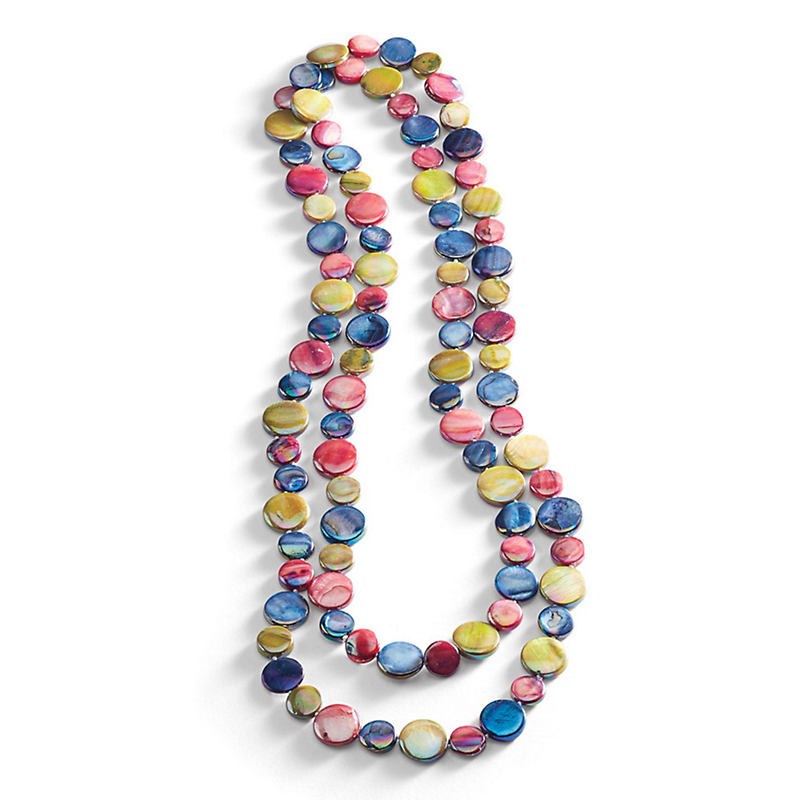 Mother-Of-Pearl Rope Necklace