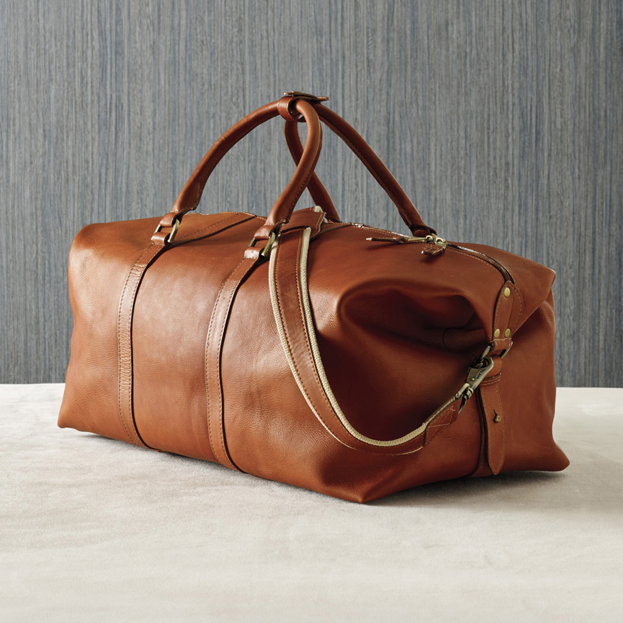 Leather Cabin Duffel Bag