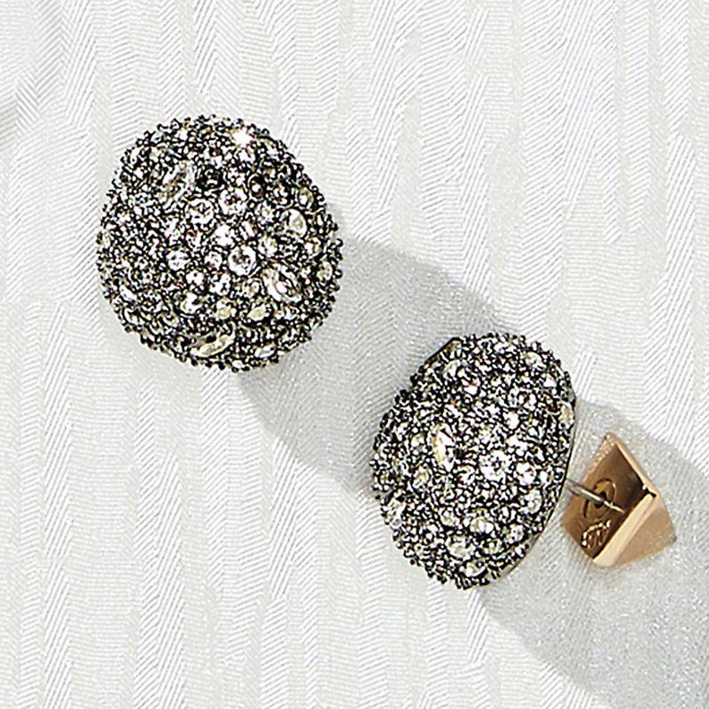 Alexis Bittar Crystal Button Earrings