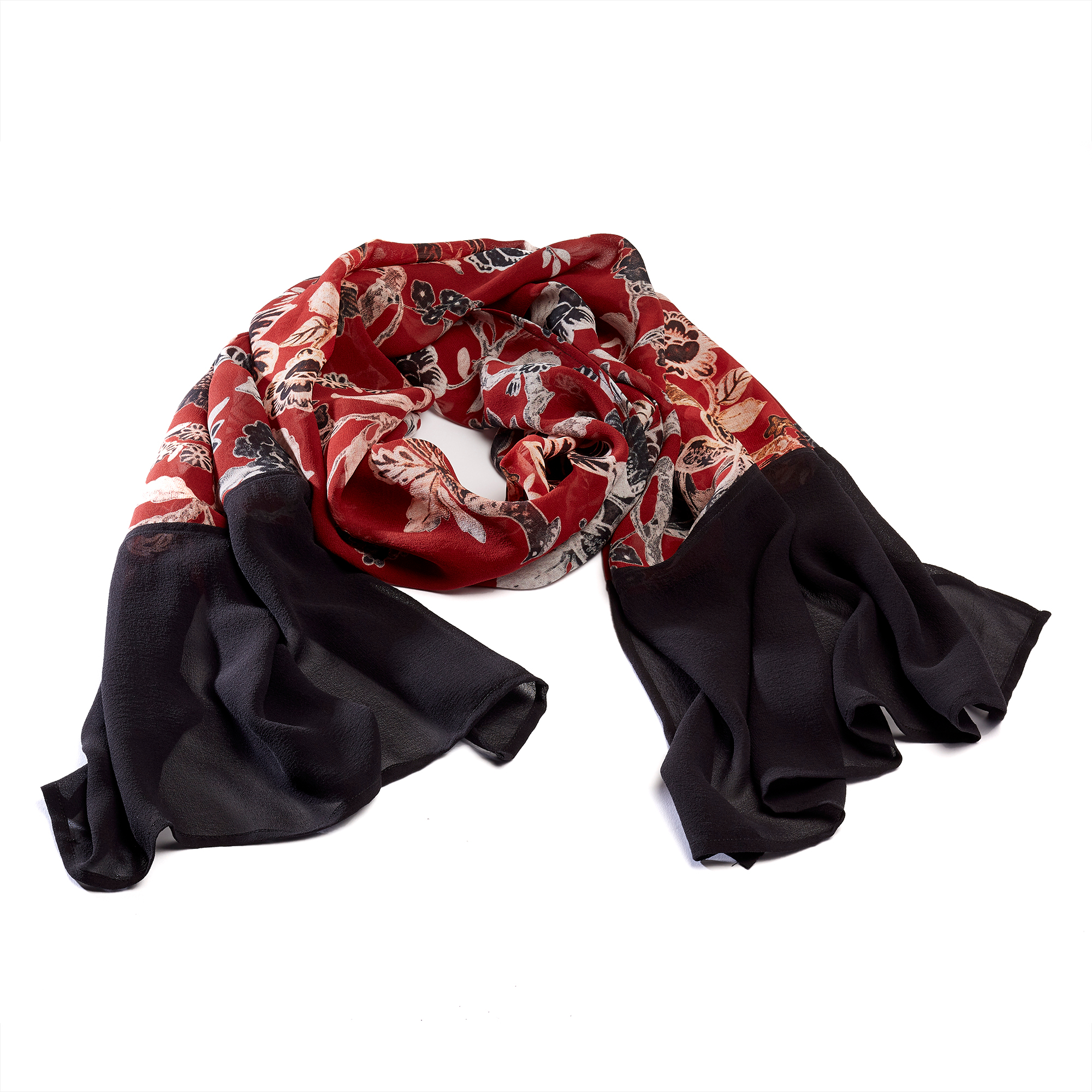 Ruby Silk Scarf