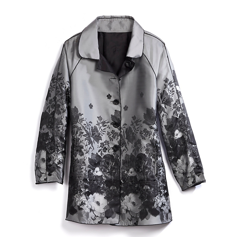 Reversible Antique Floral Raincoat