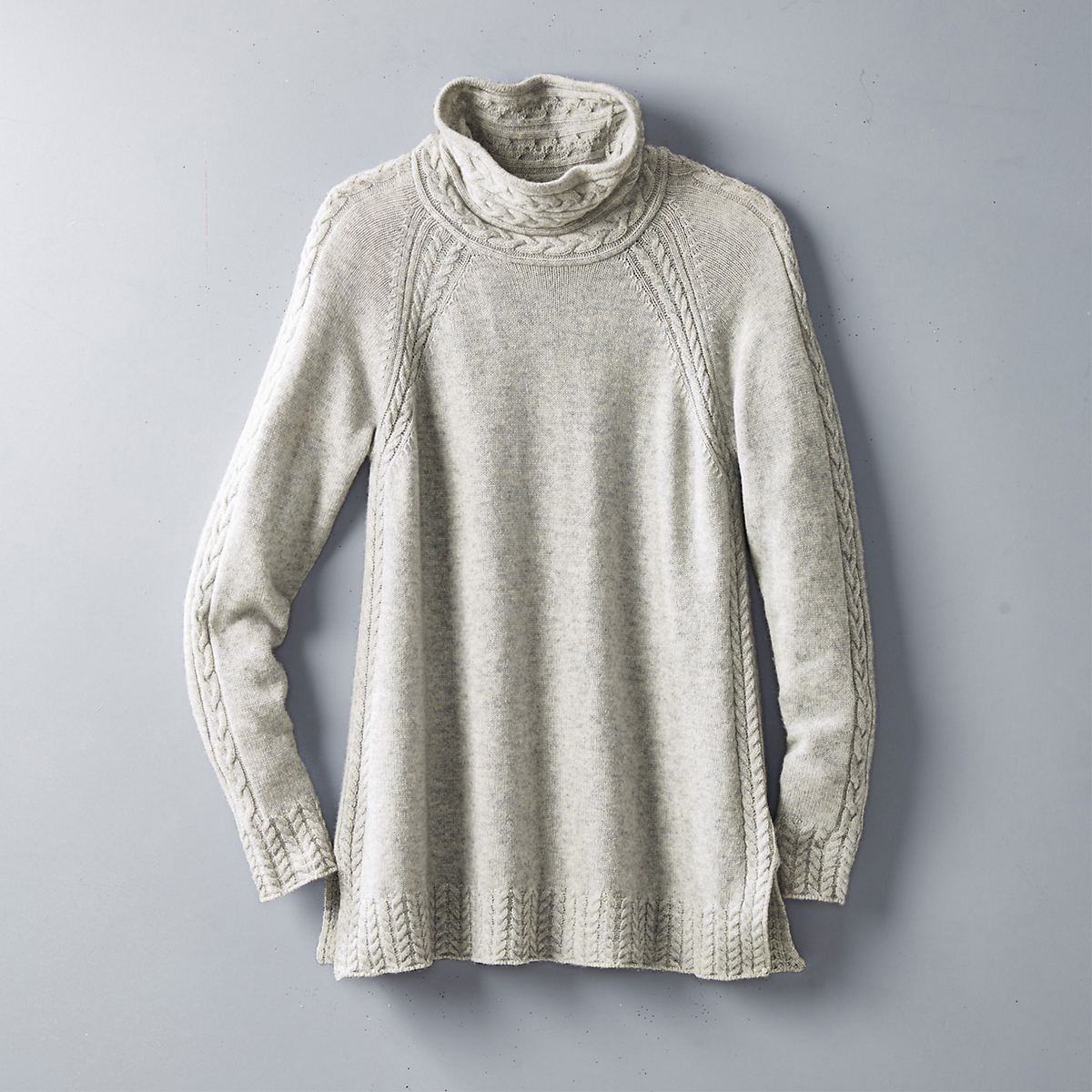 Merino Cashmere Mix-Stitch Sweater