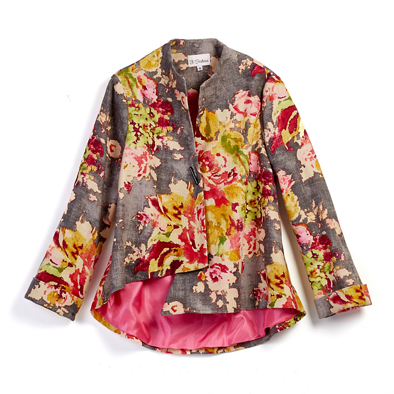 Asymmetrical Floral Jacket