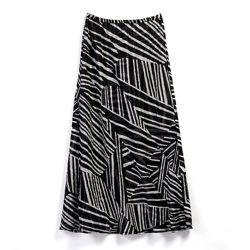 Silk Stripe Skirt