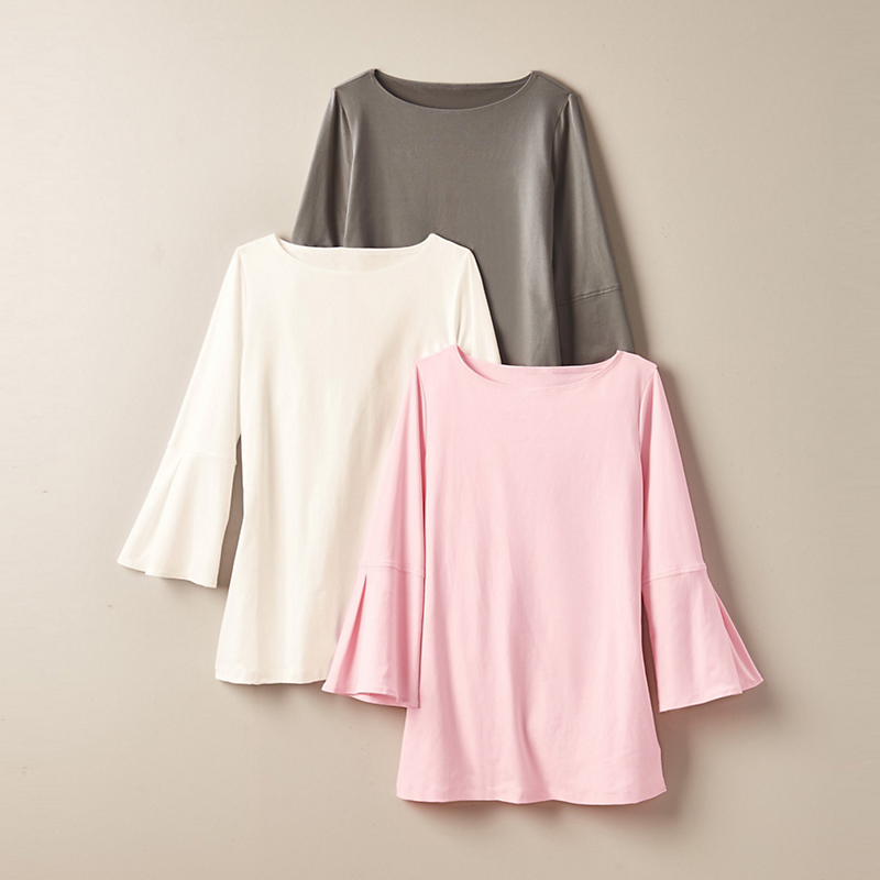 A'Nue Ligne Bell-Sleeve Top