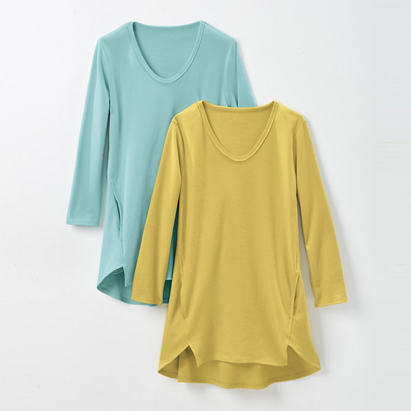Seamed Cotton Top