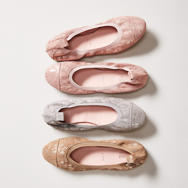 Summit By White Mountain Metallic Ballet Flats