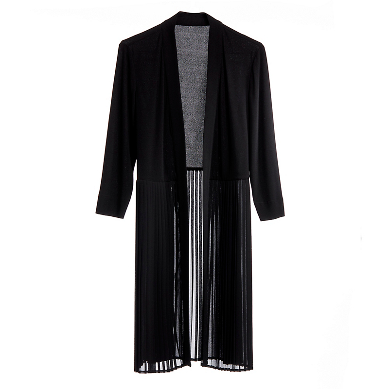 Pleated Chiffon Cardigan