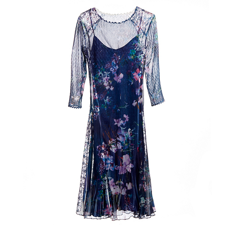 Chiffon Pixel Meadow Dress